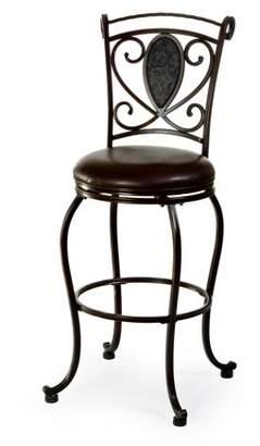 Hillsdale Furniture Scarton Swivel Bar Stool, Dark Chocolate Finish