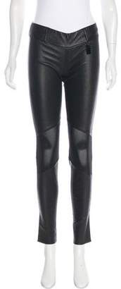 Thomas Wylde Mid-Rise Leather Pants