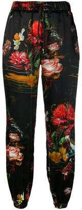 John Richmond floral print tapered trousers