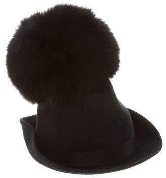 Moncler Gamme Rouge Wool and Fox Fur Hat 93c15e1ba5c