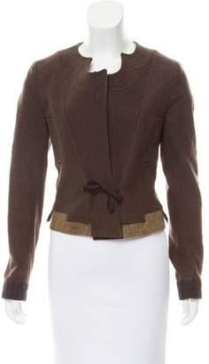 Dries Van Noten Tie Front Wool Jacket