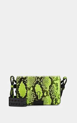 Off-White Women's Mini Snakeskin-Stamped Leather Crossbody Bag - Yellow