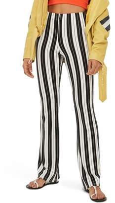 Topshop Petite Stripe Flare Pants