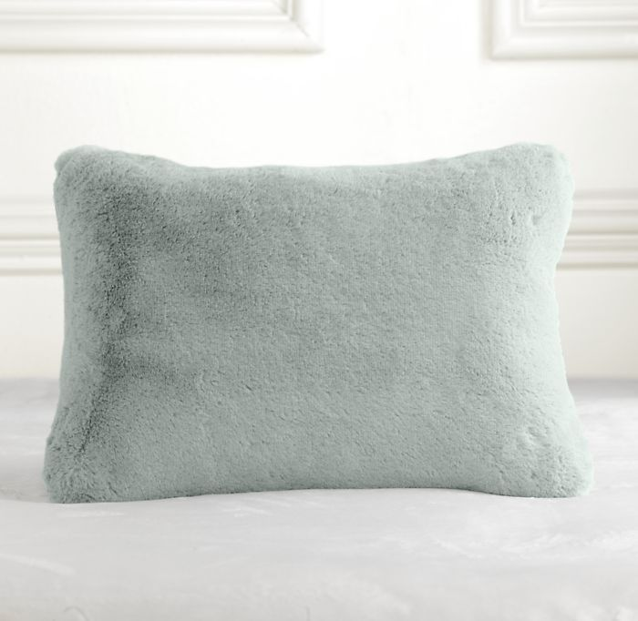 Luxury Plush Travel Pillow Silver Sage