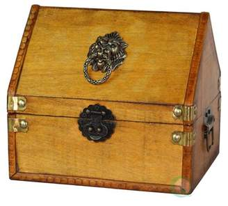 Vintiquewise Small Pirate Chest with Lion Rings