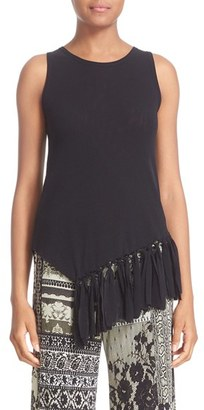 Women's Fuzzi Fringe Sleeveless Top $380 thestylecure.com
