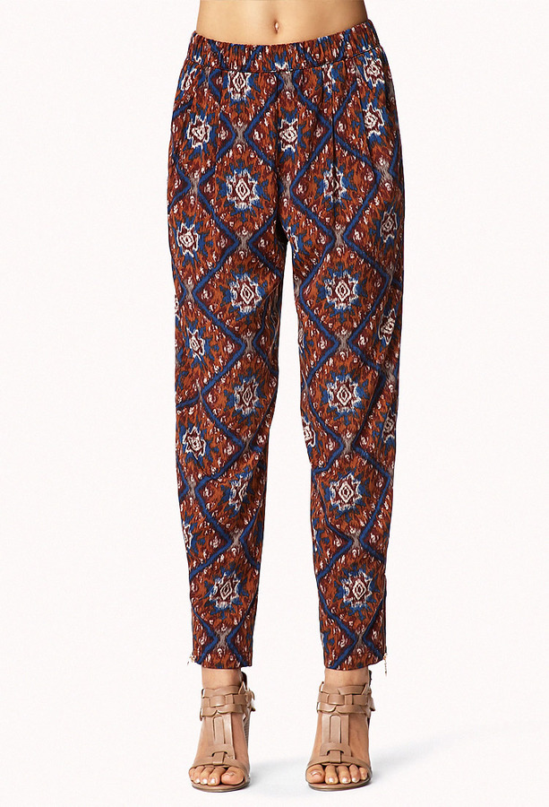 Forever 21 Ikat Satin Trousers