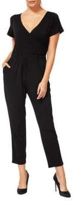Dex Short-Sleeve Knit Jumpsuit