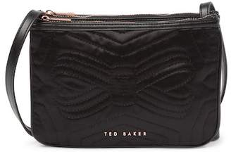 Ted Baker Janaa Quilted Bow Double Pouch Nylon Crossbody Bag