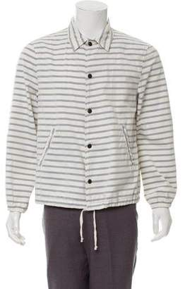 Save Khaki Striped Deconstructed Jacket w/ Tags