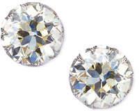 NM Estate Estate Edwardian Filigree Diamond Solitaire Stud Earrings