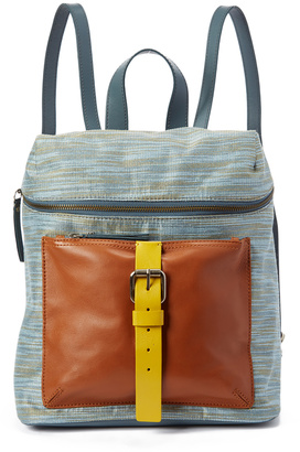 Cement Leather-Accent Metro Backpack $198 thestylecure.com