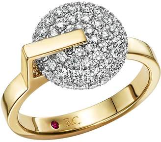Roberto Coin 18K White & Yellow Gold Diamond Disk Ring