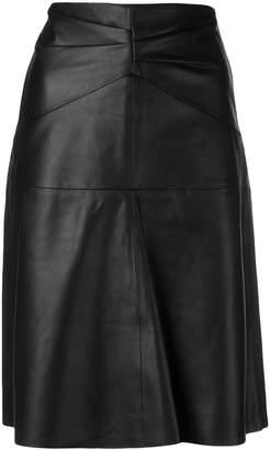 Isabel Marant paneled high-waist leather skirt
