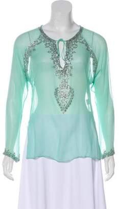 Chaiken Sequined Silk Top