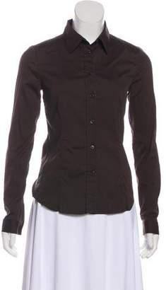 Prada Collared Long Sleeve Top