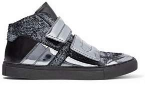 Maison Margiela Nubuck And Leather High-Top Sneakers