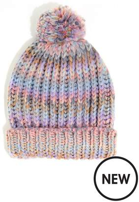 Warehouse Pastel Multi Yarn Pom Hat