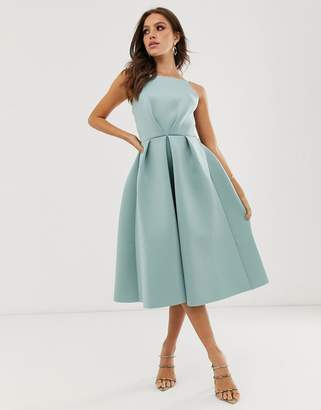 Asos Design DESIGN bow back midi prom dress