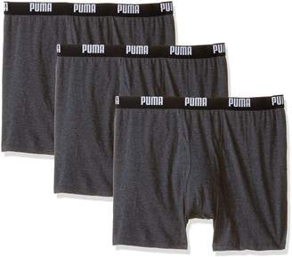 Puma Men's 3 Pack 100% Cotton Boxer Brief