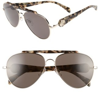 Women's Tommy Hilfiger Gigi 58Mm Aviator Sunglasses - Gold/ Havana $170 thestylecure.com