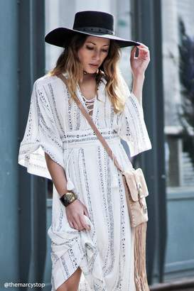 Forever 21 Contemporary Lace-Up Maxi Dress