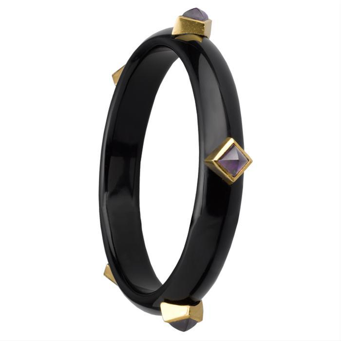 Amethyst Studded Bangle by Asha by ADM