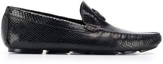 Roberto Cavalli Mirror Snake loafers