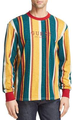 GUESS Sayer Long-Sleeve Striped Tee