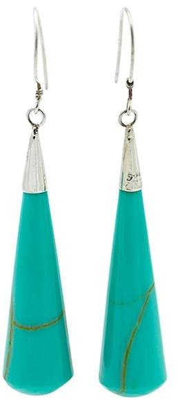Exex Design Jewelry Sterling Silver Torreon Turquoise Dangle Earrings