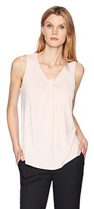 Lark & Ro Women's Sleeveless V-Neck Top