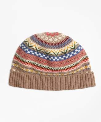 Brooks Brothers Merino Wool-Blend Fair Isle Hat
