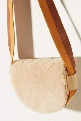 Liebeskind Berlin Sheepskin-Trimmed Leather Crossbody Bag