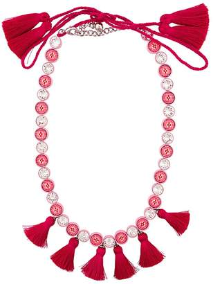 Shourouk Sautoir Tassel Necklace - Pink