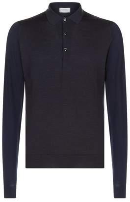 John Smedley Merino Knit Polo Shirt