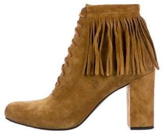 Saint Laurent Suede Fringe Boots
