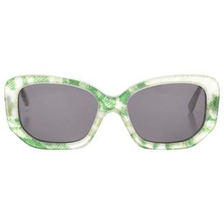 Acne Studios Green Plastic Sunglasses