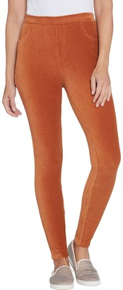 Denim & Co. Pull-on Stretch Knit Cord Leggings