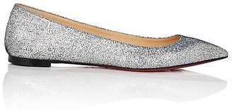 Christian Louboutin Women's Ballalla Glitter Leather Flats