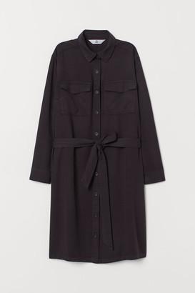 H&M Shirt Dress with Tie Belt - Black