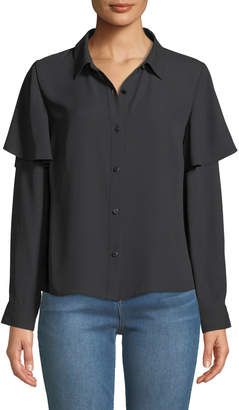 Nicole Miller New York Long-Sleeve Button-Down Blouse