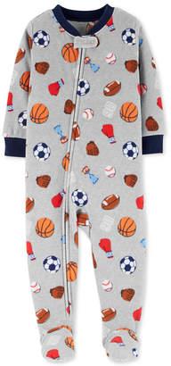 Carter's Toddler Boys Sports-Print Footed Pajamas