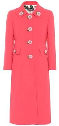 Dolce & Gabbana Embellished wool crêpe coat