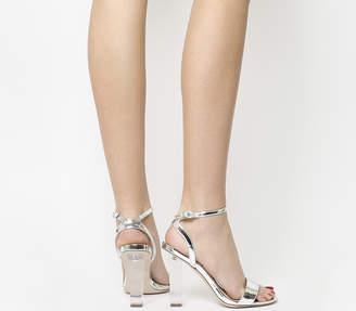 Office Hover Transparent Heel Sandals