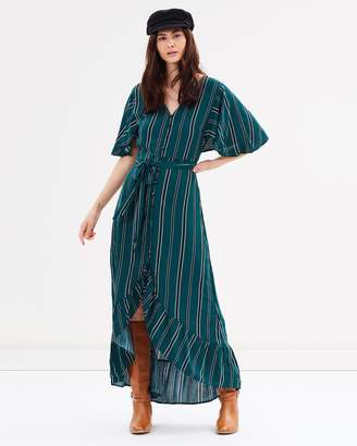 Cotton On Woven Dallas Cape Sleeve Maxi Dress
