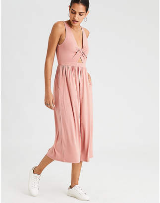 American Eagle AE Twist Front Culotte Jumpsuit