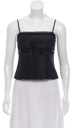 Laundry by Shelli Segal Ruffled Corset-Style Top