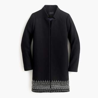 J.Crew Collection embellished coat in Italian wool melton