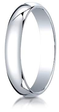 Classic Fit 10K White Gold Band
