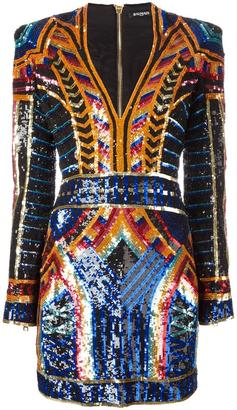 Balmain embellished sequin fitted dress $5,255 thestylecure.com
